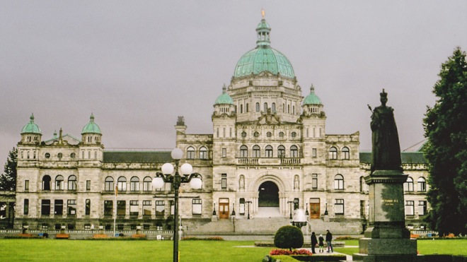 BC Legislature - taken on film with a Canon AE-1 Program