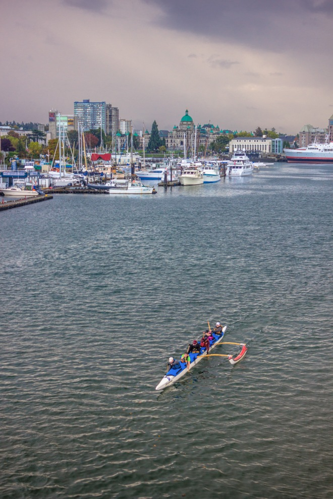 Looking into Downtown Victoria from the Blue Bridge