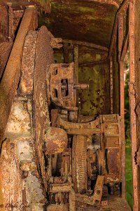 rested inside of an old mining machine