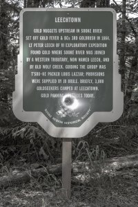 Leech town Historical Sign