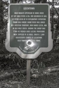 Leech town Historical Sign