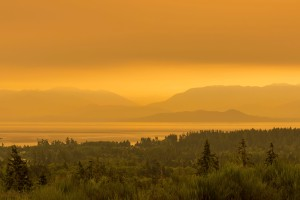 smoke from wildfires covers the province
