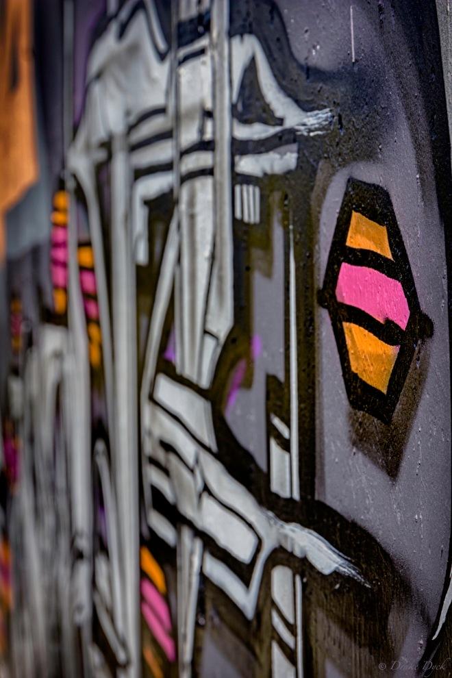 closeup of graffiti
