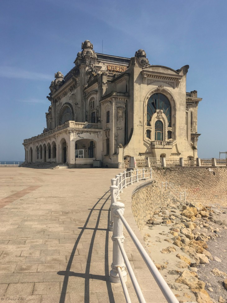 Constanta Casino sits abandoned on the waterfront