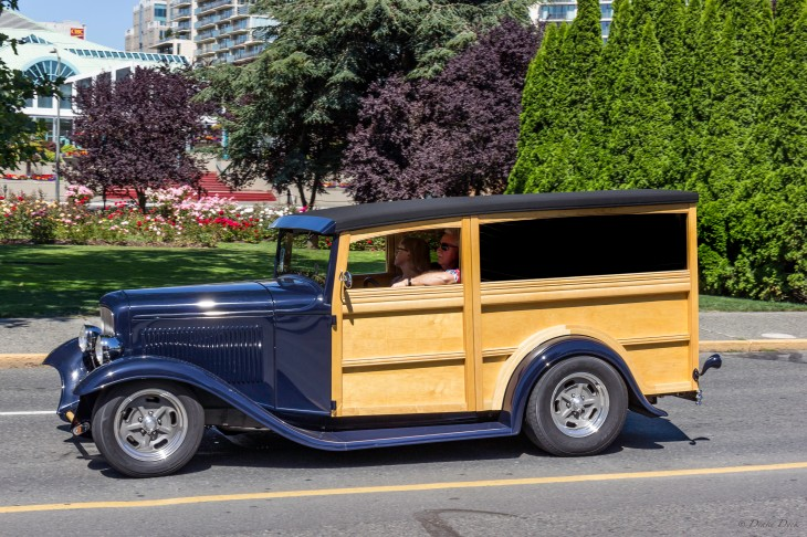 woody sided classic Ford wagon