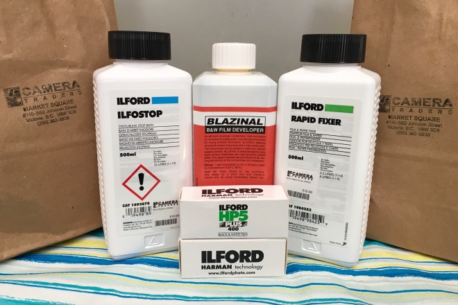 film developing chemicals by Ilford